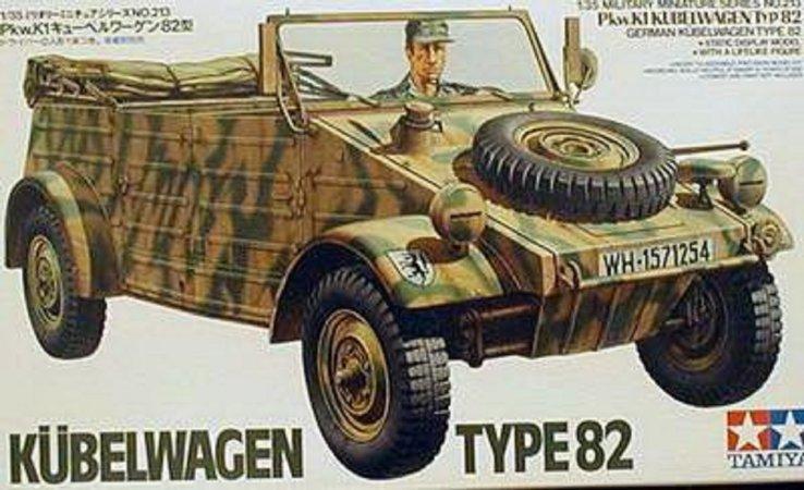 Tamiya Plastikový model vojenského auta German Kubelwagen Type 82