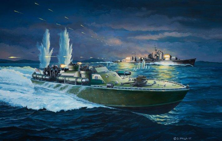 Revell ModelSet - Plastikový model lodě Patrol Torpedo Boat PT-109