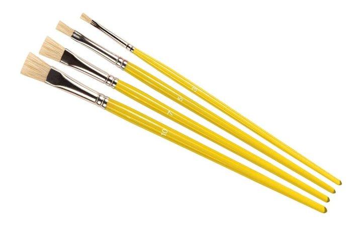Humbrol Stipple Brush pack - Sada plochých štětců velikost č. 3, 5,. 7 a 10