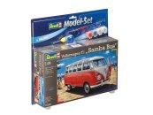 Revell ModelSet - Plastikový model autobusu VW T1 Samba Bus