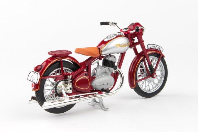 Abrex Jawa 250 Pérák Standard (1948) - Tmavě červená