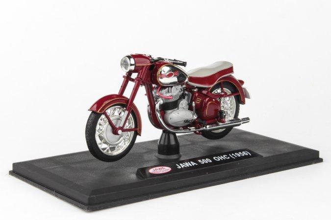 Abrex Jawa 500 OHC (1956) - Tmavě červená