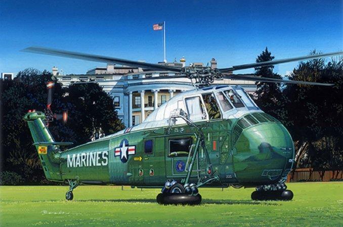 """Trumpeter Plastikový model vrtulníku VH-34D """"Marine One"""""""