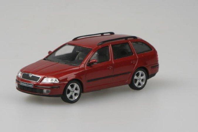 Abrex Škoda Octavia II Combi (2004) - Červená Flamenco metalíza