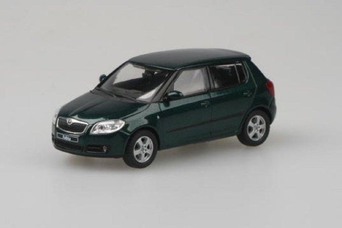 Abrex Škoda Fabia II (2006) - Zelená Amazonian metalíza