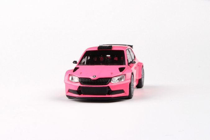 Abrex Škoda Fabia III R5 (2015) - Růžová matná