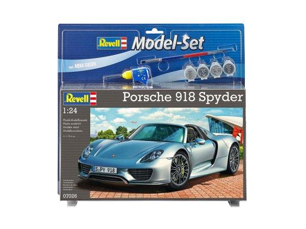 Revell ModelSet - Plastikový model auta Porsche 918 Spyder