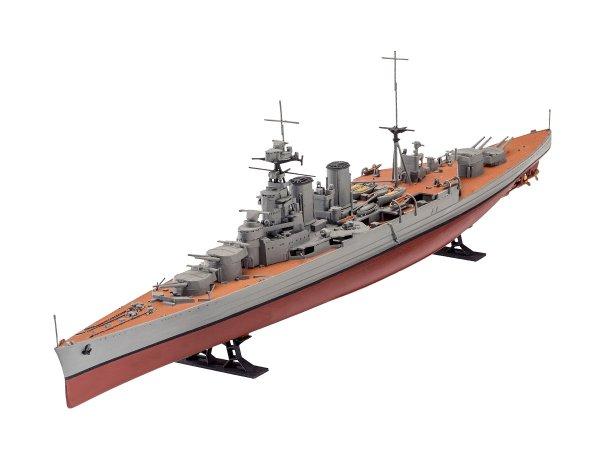 Revell Plastikový model lodě Battle Set HMS HOOD vs. BISMARCK - 80th Anniversary - Limited Edition