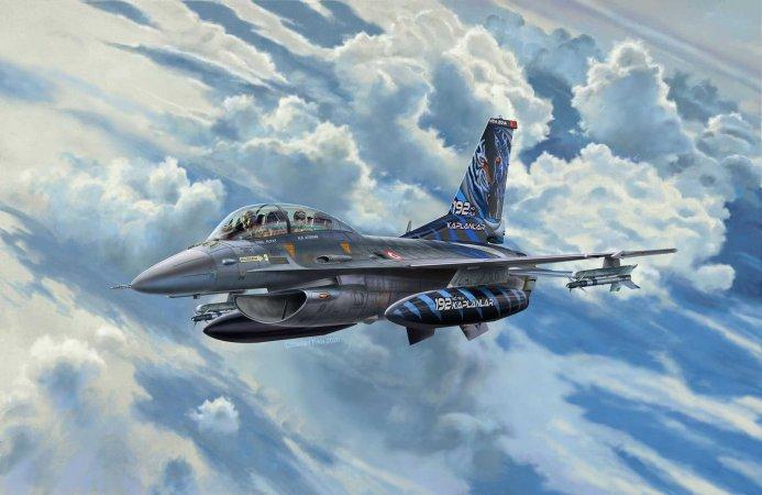 Revell ModelSet - Plastikový model letadla Lockheed Martin F-16D Tigermeet 2014