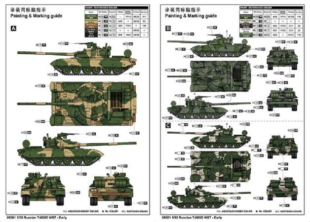 Trumpeter Plastikový model tanku Russian T-80UD MBT - Early
