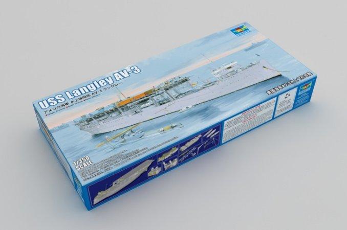 Trumpeter Plastikový model lodě USS Langley AV-3