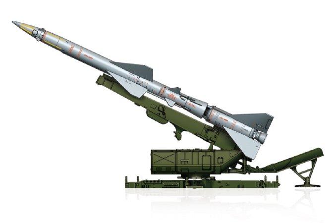 Hobby Boss Plastikový model raketové zbraně Sam-2 Missile with Launcher Cabin