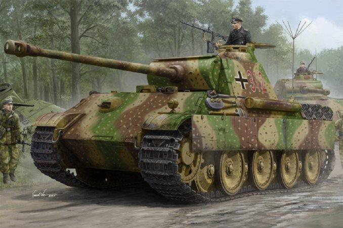 Hobby Boss Plastikový model středního tanku German Sd.Kfz.171 Panther Aust.G - Early Version