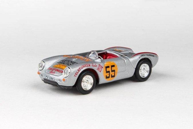 Abrex Cararama - Porsche 550A - Racing Silver