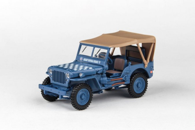 Abrex Cararama - Ton Military Vehicle Soft Top - Blue With Sandy Soft Top