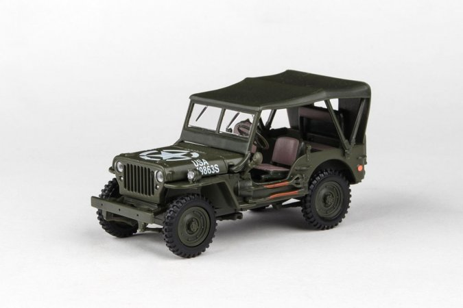 Abrex Cararama - Ton Military Vehicle Soft Top - Military Green