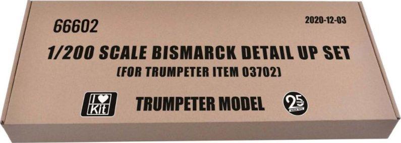 Plastikový model lodě Bismarck detail up set