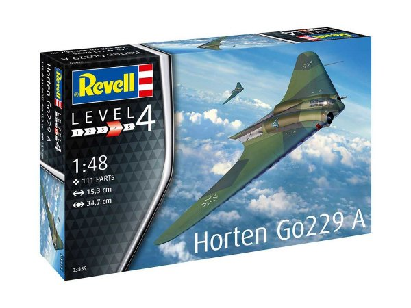 Plastikový model letadla Horten Go229 A-1