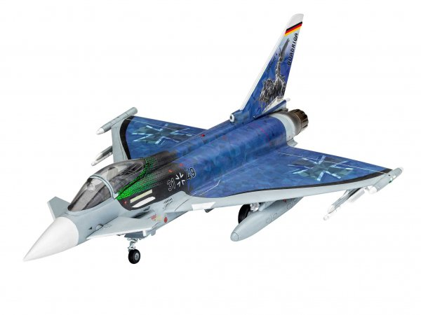 "Revell ModelSet - Plastikový model letadla Eurofighter ""Luftwaffe 2020 Quadriga"""