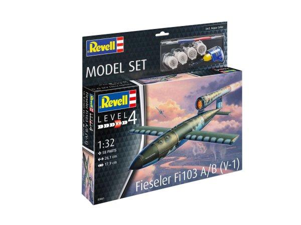 Revell ModelSet - Plastikový model rakety Fieseler Fi103 V-1