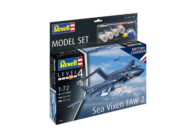 Revell ModelSet - Plastikový model letadla Sea Vixen FAW 2