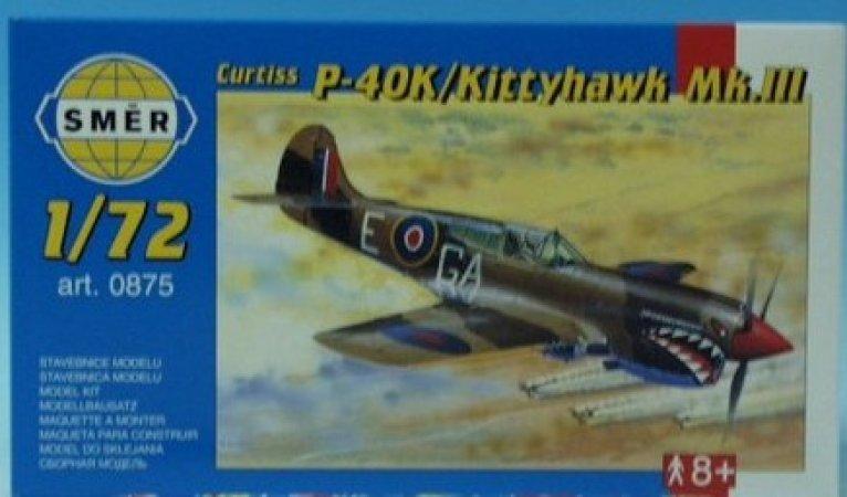 Směr Plastikový model letadla Curtiss P - 40K
