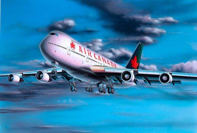 Revell ModelSet - Plastikový model letadla Boeing 747-200 'Air Canada'