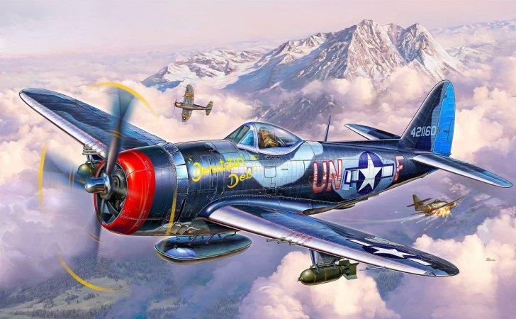 Revell Plastikový model letadla P-47 M Thunderbolt