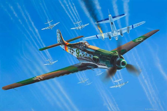 Revell Plastikový model letadla Focke Wulf Ta 152 H