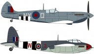 Hasegawa Spitfire Mk. VII & Mosquito FB Mk. VI - Limitovaná edice