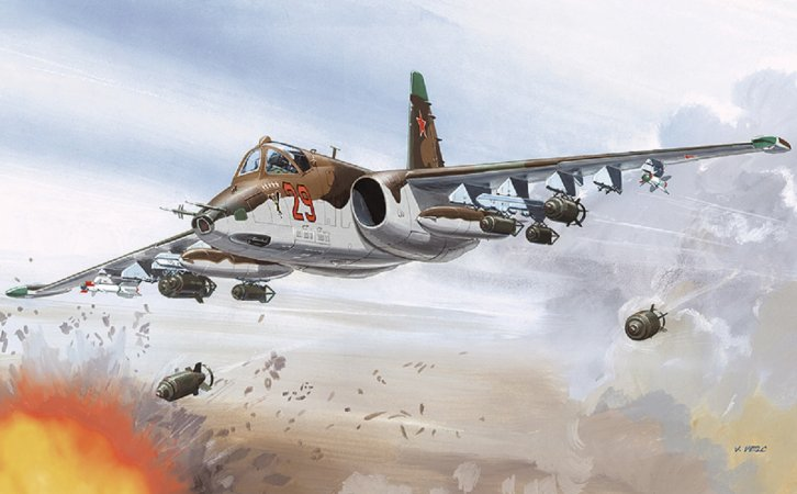 Směr Plastikový model letadla Suchoj Su-25 K