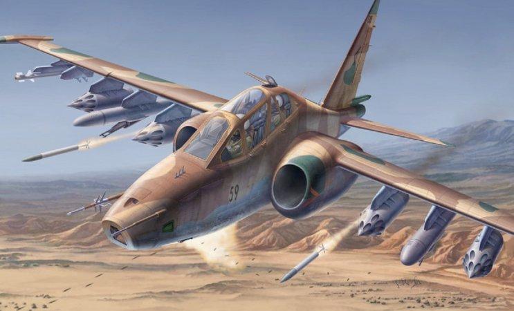 Směr Plastikový model letadla Suchoj Su-25 UB/UBK