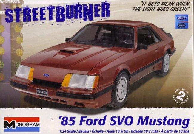 Revell Plastikový model auta '85 Ford SVO Mustang - Výprodej!