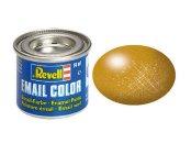 Revell Barva emailová metalická - Mosazná (Brass) - č. 92
