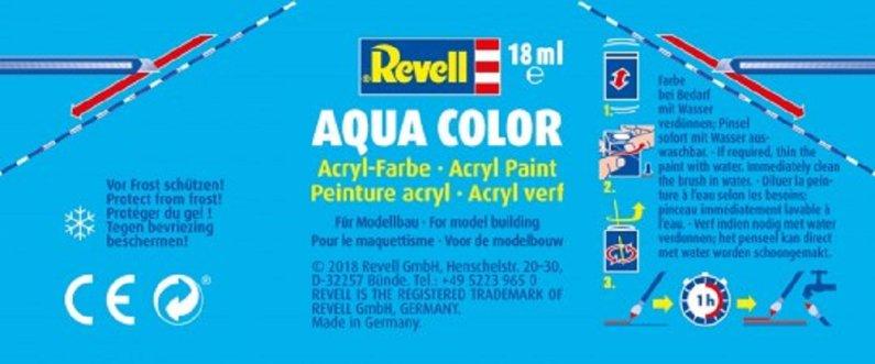 Revell Barva akrylová matná - Dehtově černá (Tar black) - č. 06
