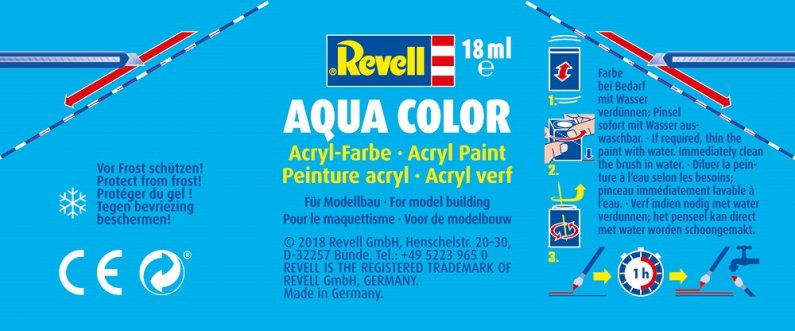 Revell Barva akrylová matná - Šedá (Grey USAF w.) - č. 43