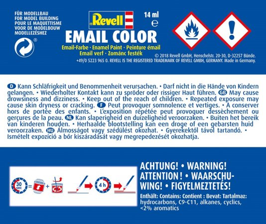 Revell Barva emailová matná - Karmínová (Carmine red) - č. 36