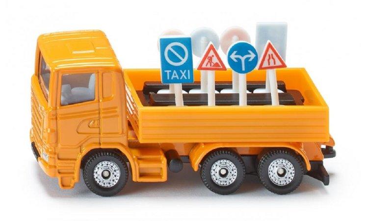 SIKU  Nákladní vozidlo s dopravními značkami