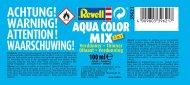Revell Aqua Color Mix 39621 - ředidlo a zpomalovač schnutí - 100 ml