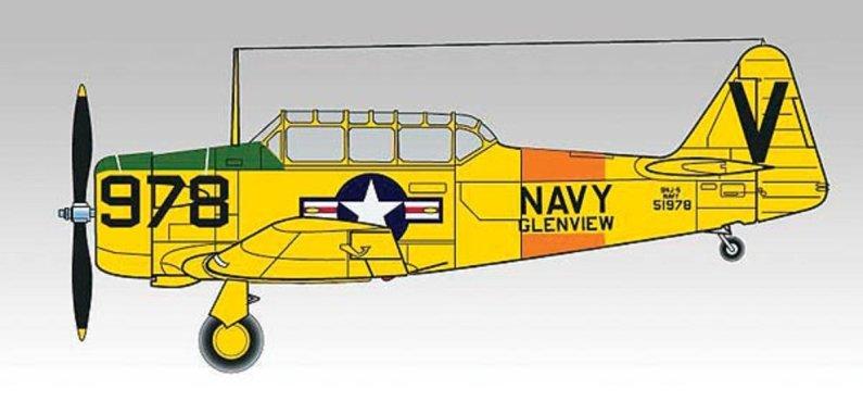 Revell Plastikový model letadla AT-6/SNJ Texan - Výprodej