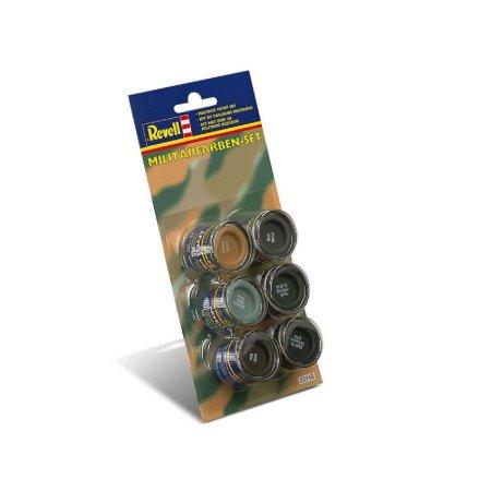 Revell Barva emailová - Sada vojenských barev - 6 x 14 ml