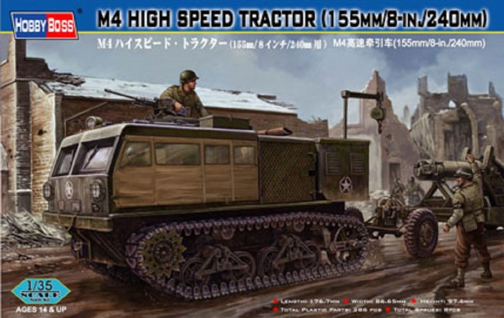 Hobby Boss M4 High Speed Tractor (155mm/8-in./240 mm)