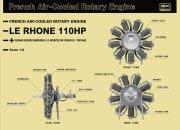 Hasegawa Le Rhone 110HP Engine - Limitovaná edice
