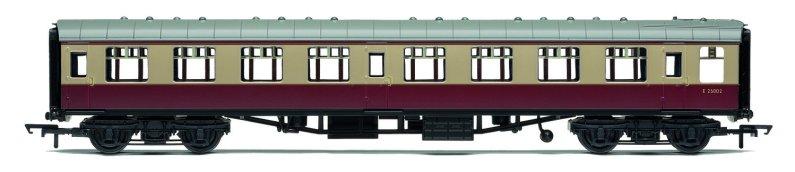 Hornby RailRoad - Vagón osobní - BR Mk1 Corridor Second Coach - BR Crimson & Cream