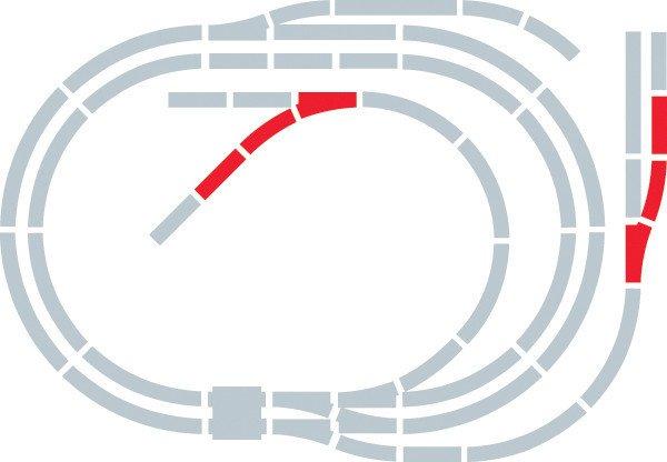 Hornby Rozšíření trati sada - Extension Pack F