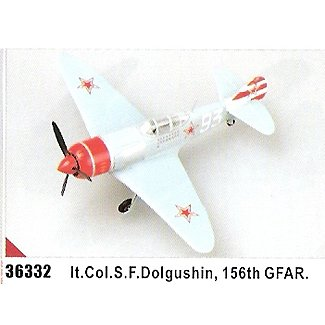 Easy model La-7 - White 93 lt. Col. S. F. Dolgushin, 156th FAR