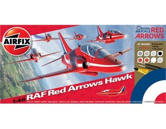 Airfix RAF Red Arrows Hawk Gift Set 1:48 - Výprodej