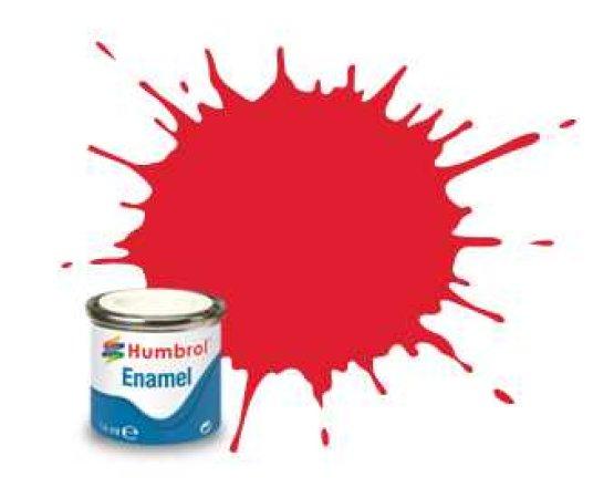 Humbrol Barva emailová lesklá - Jasně červená (Bright Red) - č. 19 - 14 ml