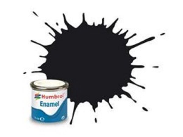 Humbrol Barva emailová lesklá - Černá (Black) - č. 21