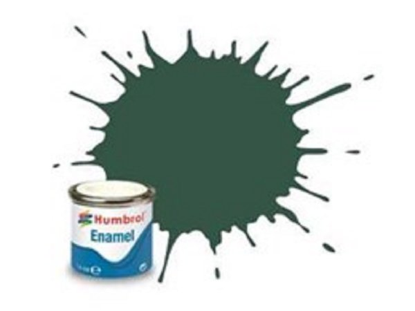 Humbrol Barva emailová matná - Tmavě zelená (US Dark Green) - č. 116